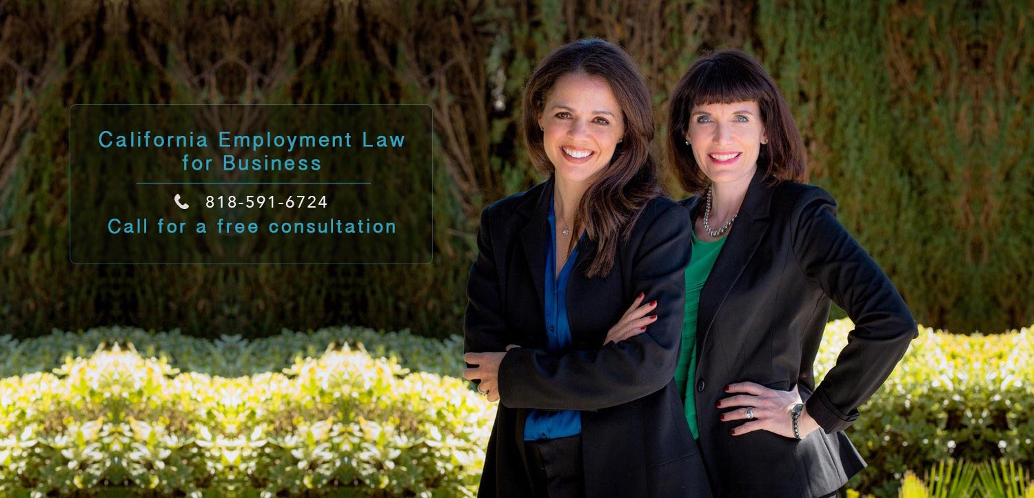 California Employment Law for Business: Call for a free consultation to 818-591-6724